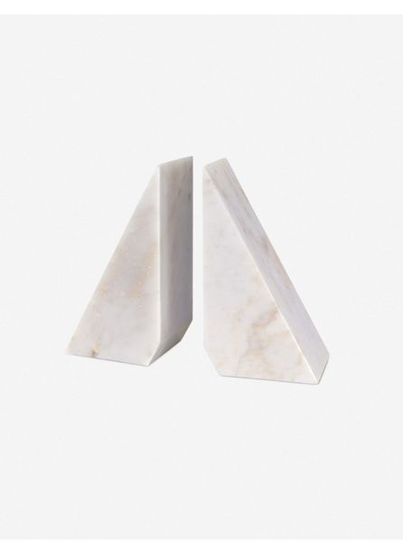 Regina Andrew Othello Bookends, White Marble