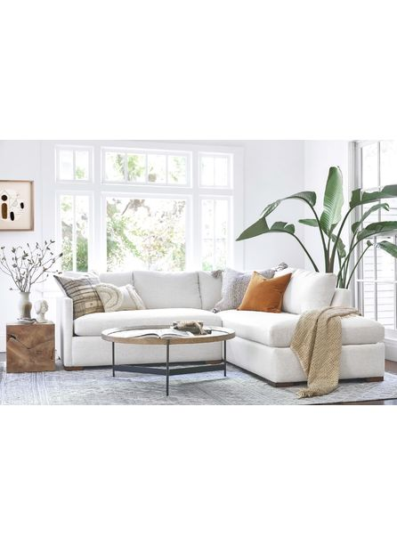 Callahan Right-Facing Bumper Sectional Sofa, Sand