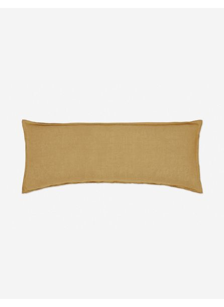 Arlo Linen Long Lumbar Pillow, Marigold