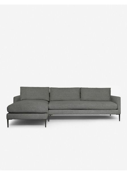 Allisen Left-Facing Sectional Sofa, Charcoal