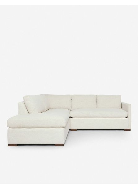 Callahan Left-Facing Bumper Sectional Sofa, Sand