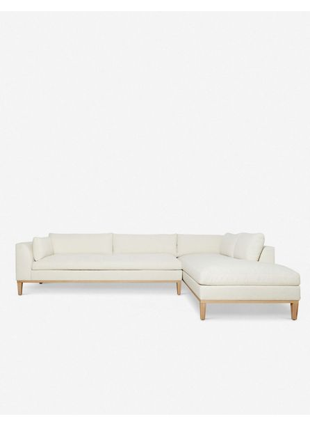 Charleston Right-Facing Sectional Sofa, Ivory