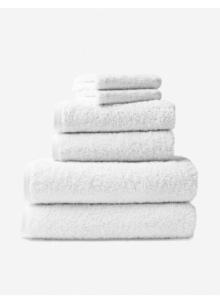 Coyuchi Cloud Loom Towel Set, White