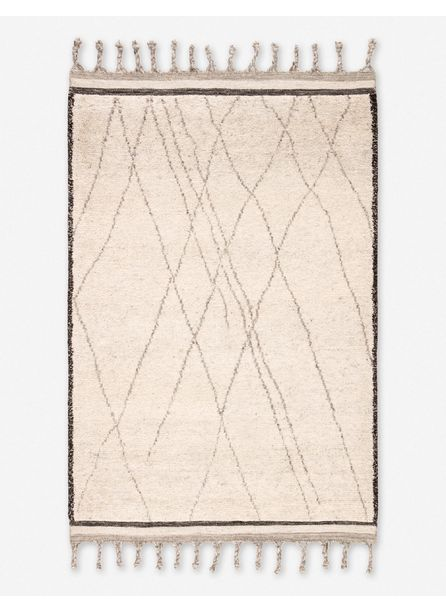Dortha Moroccan Style Rug, Ivory and Black