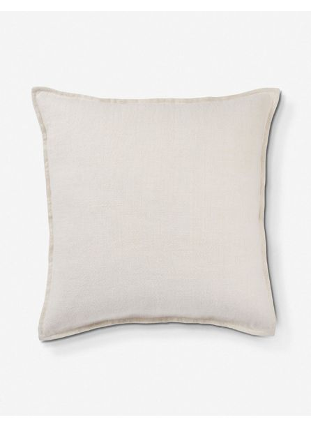 Emalita Linen Pillow, White