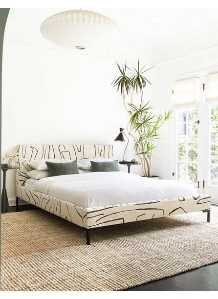 Deva Platform Bed, Grafitto