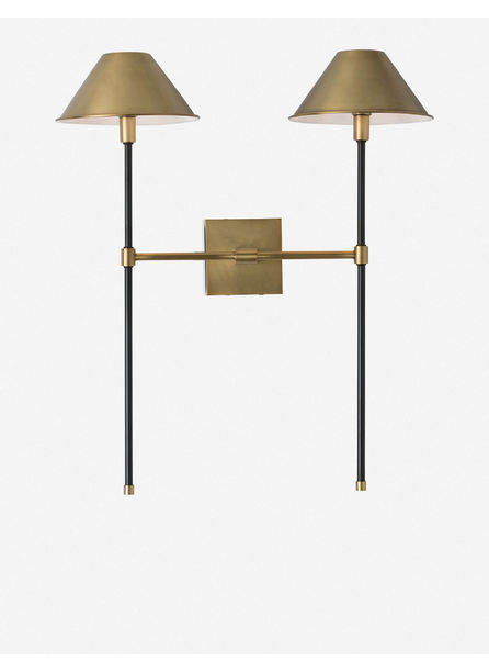 Arteriors Havana Sconce, Antique Brass