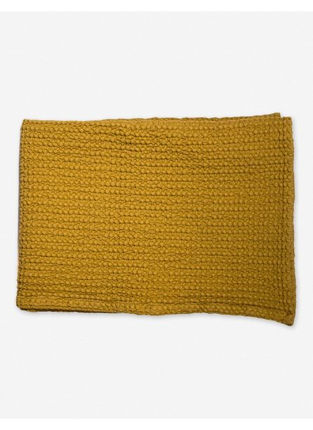 Hawkins New York Simple Waffle Bath Towel, Mustard