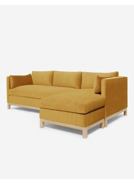 Hollingworth Right-Facing Sectional Sofa, Goldenrod By Ginny Macdonald