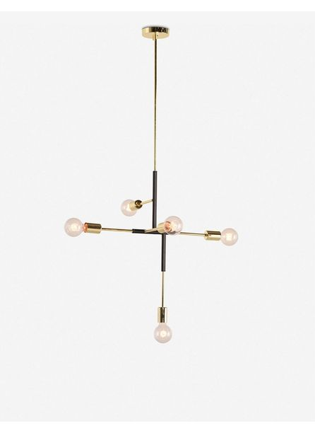 Nillie Pendant Light, Black and Gold