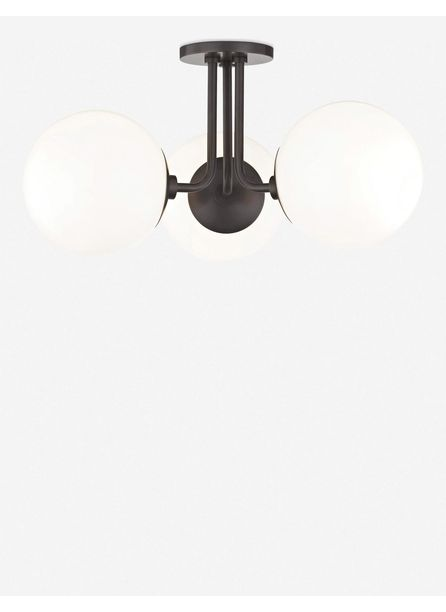 Lia 3-Light Semi-Flush Mount Light, Old Bronze