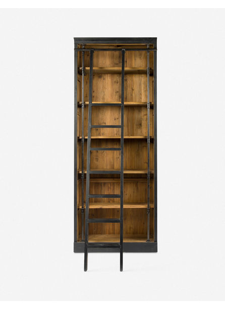 Mallory Bookcase with Ladder