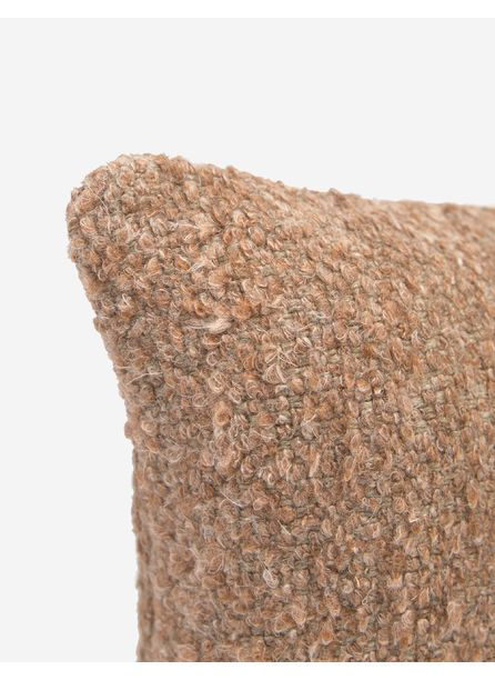 Manon Linen Boucle Lumbar Pillow, Terracotta