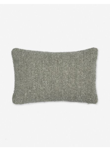 Manon Linen Boucle Lumbar Pillow, Moss