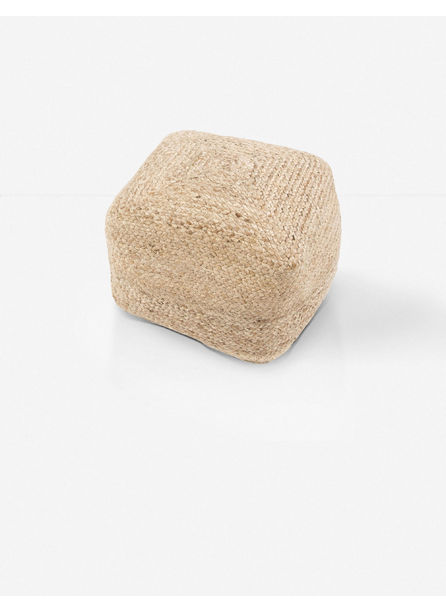 Patan Square Pouf, Natural