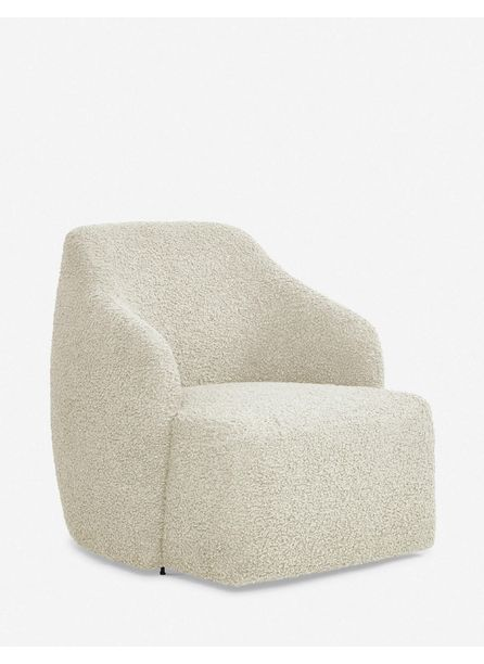Tobi Swivel Chair, Cream