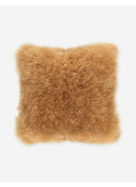Madison Cashmere Fur Pillow, Golden Brown