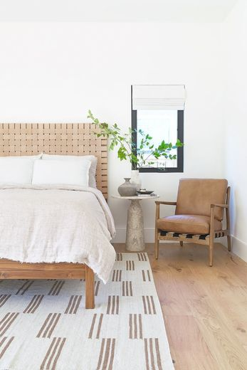 Tiyana Woven Leather Queen Bed