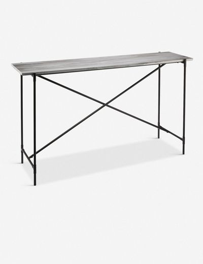 Selia Console Table, Grey Marble
