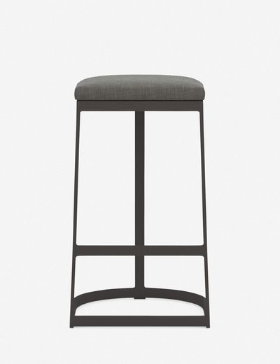 Olivera Outdoor Bar Stool, Charcoal