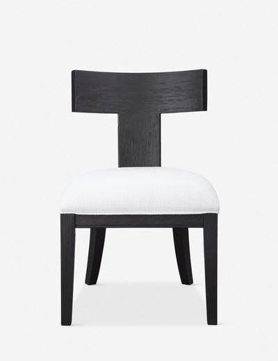 Thora Armless Chair, Charcoal Black