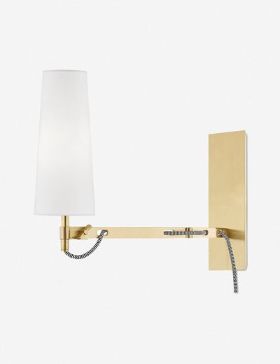 Darla Adjustable Sconce, Aged Brass