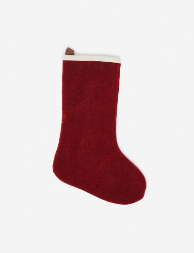 Adele Mohair Stocking, Red