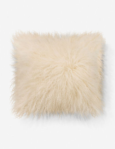 Albany Lamb's Wool Pillow, Ivory