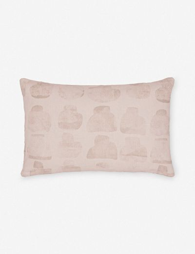 Annie Coop Mez Lumbar Pillow, Blush