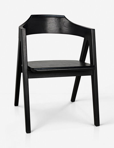 August Dining Chair, Charcoal Black