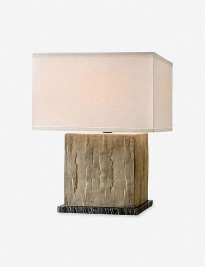 Bethea Cube Table Lamp, Sandstone