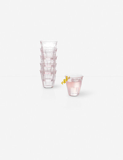 Elsie Bistro Glasses, Pink (Set of 6)
