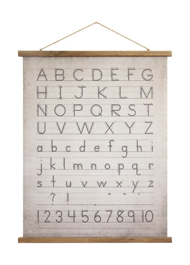 Alphabet And Numbers Canvas Scroll
