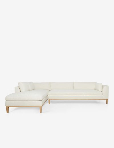 Charleston Left-Facing Sectional Sofa, Ivory