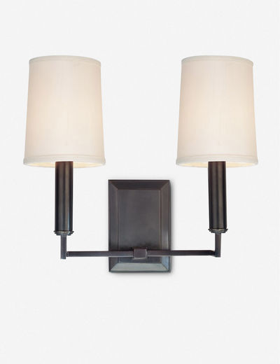 Charlie Double Sconce, Dark Bronze