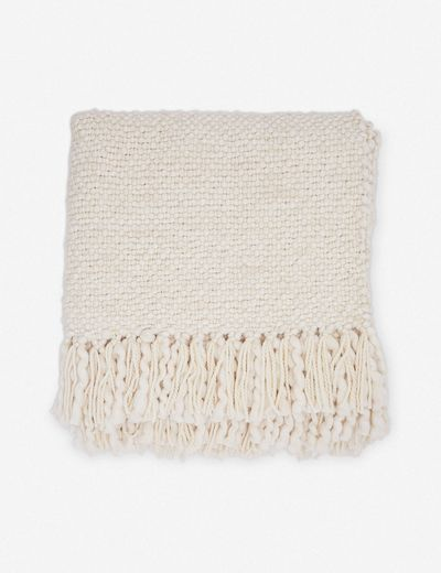 Olema Handwoven Throw, Ivory
