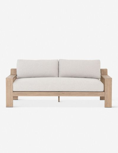 Clarise Indoor / Outdoor Loveseat, Brown