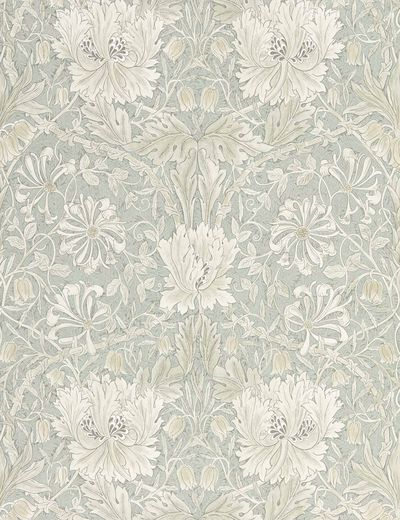 Morris & Co. Pure Honeysuckle & Tulip Wallpaper