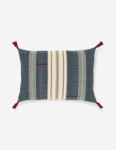 Mandisa Lumbar Pillow, Denim Multi