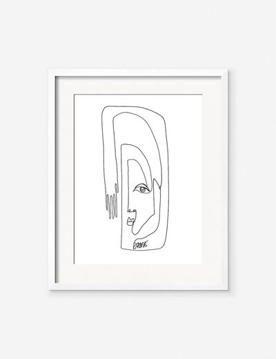 'Face + Hand' Print by Damienne Merlina