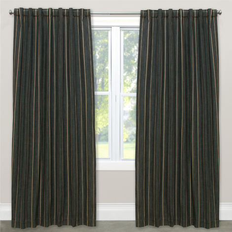 Fritz Curtain Panel, Peppercorn