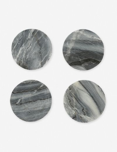 Modernist Coaster Set of 4, Gray