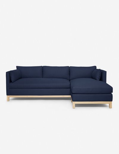 Hollingworth Right-Facing Sectional Sofa, Dark Blue By Ginny Macdonald