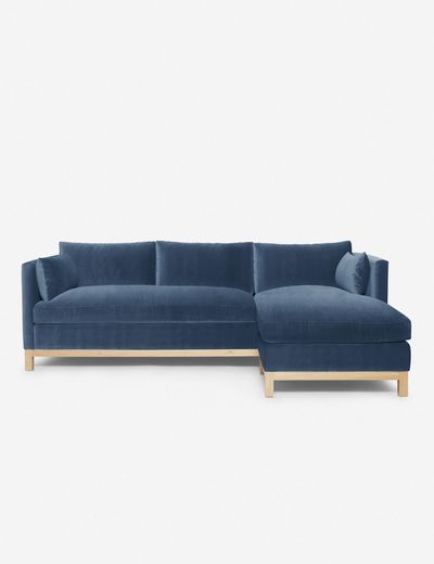 Hollingworth Right-Facing Sectional Sofa, Harbor By Ginny Macdonald