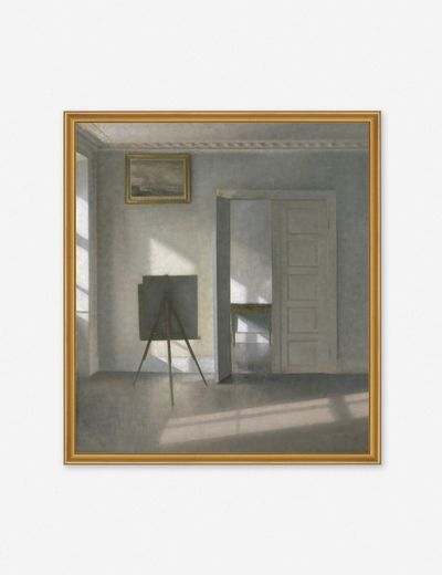 'Interior with an Easel' Wall Art by Vilhelm Hammershøi, Original Work held by the J. Paul Getty Museum