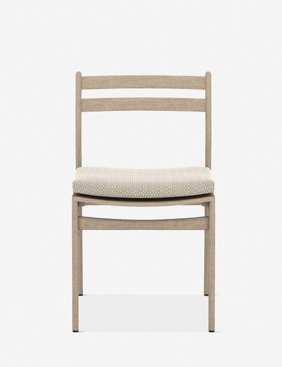 Oleena Outdoor Dining Chair, Washed Brown/ Faye Sand
