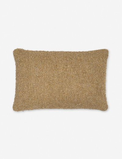 Manon Linen Boucle Lumbar Pillow, Mustard