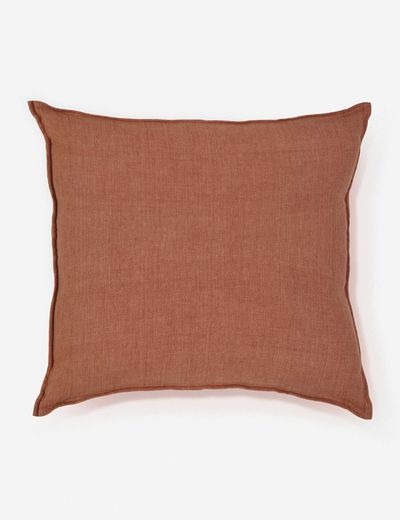 POM POM AT HOME MONTAUK LARGE Euro PILLOW, Terracotta
