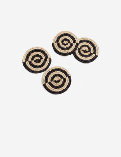 Kazi Pande Raffia Coasters (Set of 4)