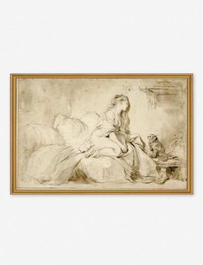 'Oh! IF Only He Were as Faithful to Me' Wall Art by Jean-Honoré Fragonard, Original Work held by the J. Paul Getty Museum